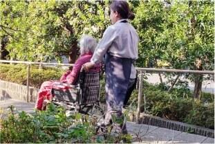 車椅子でのお散歩